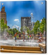 Splashville Of Asheville Acrylic Print