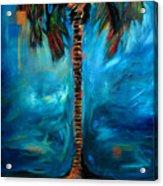 Splashy Palm Azure Acrylic Print