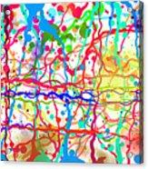Splatter Paint Acrylic Print