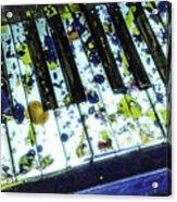 Splattered Keys Acrylic Print