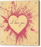 Splattered Love Acrylic Print