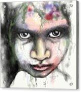 Splattered Stare Acrylic Print