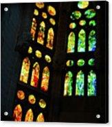 Splendid Stained Glass Windows Acrylic Print