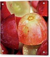 Split Red Grapes Acrylic Print