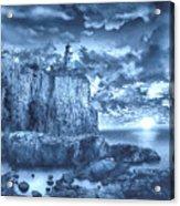 Split Rock Lighthouse Blue Acrylic Print