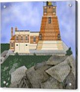 Split Rock Lighthouse On The Great Lakes Acrylic Print