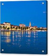 Split Waterfront Blue Hour View Acrylic Print