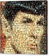 Spock Star Trek Mosaic Acrylic Print by Paul Van Scott