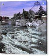 Spokane Pavilion Winter Acrylic Print