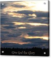 Spokane Sunset - Give God The Glory Acrylic Print