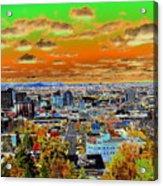 Spokane Washington Earth Acrylic Print