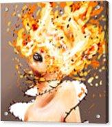 Spontaneous Combustion Acrylic Print