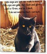 Spooky Quote Acrylic Print