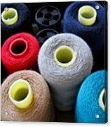 Spools Of Yarn Acrylic Print by Yali Shi