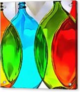 Spoon Bottles-rainbow Theme Acrylic Print