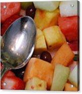 Spoon With Food Acrylic Print
