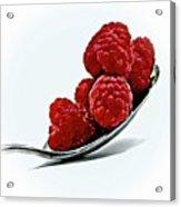Spoonful Of Raspberries Acrylic Print