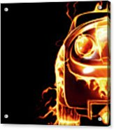 Sports Car In Flames Acrylic Print by Oleksiy Maksymenko