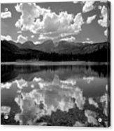 310204-bw-sprague Lake Reflect Bw  Acrylic Print