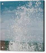 Spray In The Bay Acrylic Print