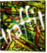 Spray Painted Graffiti Acrylic Print