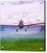 Spraying The Fields - Crop Duster - Aviation Acrylic Print