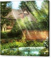 Spring - Garden - The Pool Of Hopes Acrylic Print