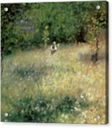 Spring At Chatou Acrylic Print by Pierre Auguste Renoir