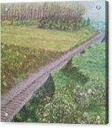 Spring At The Railroad Cut Gettysburg Acrylic Print
