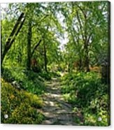 Spring At The Urban Oasis Portrait Acrylic Print