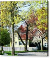 Spring Begins In The Suburbs Acrylic Print