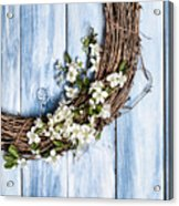 Spring Blossom Wreath Acrylic Print