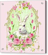 Spring Bunny Acrylic Print by Wendy Paula Patterson