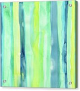 Spring Colors Stripes Pattern Vertical Acrylic Print