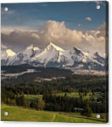 Spring Comes To The High Tatra Mountains In Poland Acrylic Print