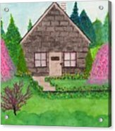 Spring Cottage Acrylic Print