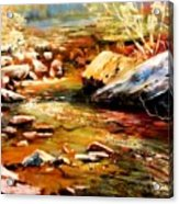 Spring Creek Glow Acrylic Print
