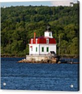 Spring Evening At Esopus Lighthouse Acrylic Print