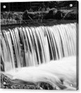 Spring Falls At Hodgson Grayscale Acrylic Print