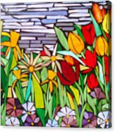 Spring Floral Mosaic Acrylic Print