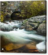 Spring Flow At Eagle Creek Acrylic Print