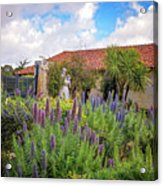 Spring Flowers In The Carmel Mission Garden Acrylic Print