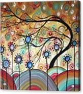 Spring Flowers Original Painting Madart Acrylic Print