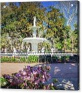 Spring Fountain Acrylic Print