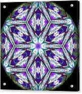 Spring Garden Mandala Acrylic Print