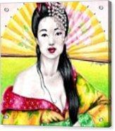 Spring Geisha Acrylic Print