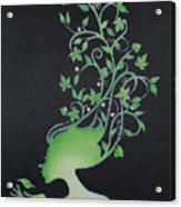 Spring Girl Acrylic Print