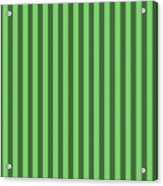 Spring Green Striped Pattern Design Acrylic Print