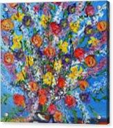 Spring Has Sprung- Abstract Floral Art- Still Life Acrylic Print