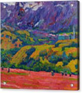 Spring In Bergell Acrylic Print